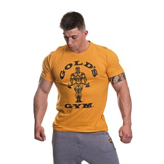 Golds Gym T-Shirt  , Gold´s Gym U.S.A Logo Shirt, gold / gelb , Muscle Joe