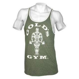 Golds Gym Tank Top Men´s  , Gold´s Gym Contrast Muskelshirt   Army  S
